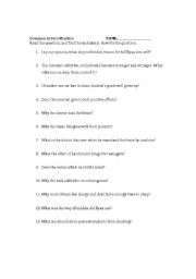 Common Sentence Errors Esl Worksheet By Jkrebster