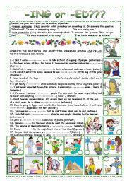 English Worksheets: -ING or -ED????