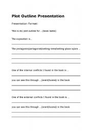 English Worksheet: Literature unit: Plot Outline Presentation