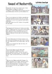English Worksheet: Hound of the Baskervilles - 11 pages 7 pgs excercises