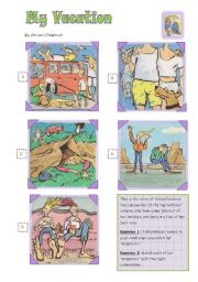 English Worksheet: My vacation: a photo album to speak and write about holidays.