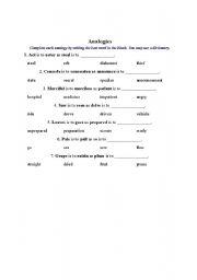 English Worksheets: printable_worksheet(analogie)
