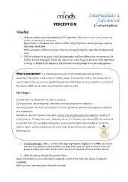 English Worksheets: Perception