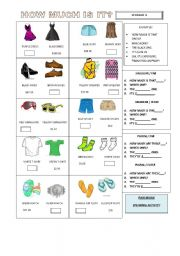 English Worksheets: HOW MUCH IS IT??? SPEAKING ACTIVITY