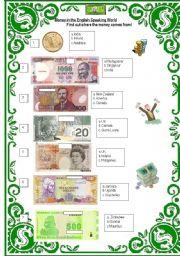 English Worksheet: quizz on money!