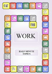English Worksheets: Work - boardgame or pairwork (34 questions for discussion)