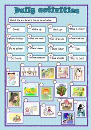 English Worksheets: Daily activities