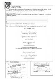English Worksheet: Forrest Gump Worksheet