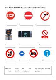 Signs (Must / Mustn´t)