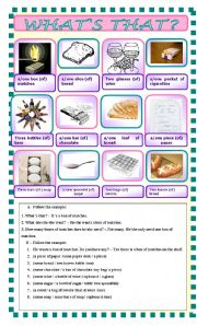 English Worksheet: what�s that? Measures/quantities