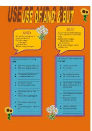 English Worksheets: USE OF AND & BUT