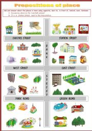 preposition of place and movement exercises pdf
