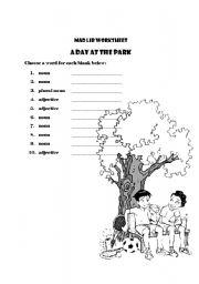 English Worksheets: Mad Lib