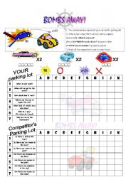 English Worksheet: Bombs Away! Grammar practice using interrogatives