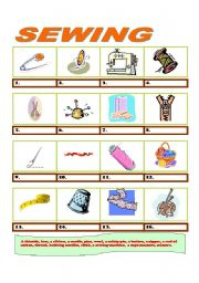 16 items connected with sewing answer key esl worksheet by maurice. Black Bedroom Furniture Sets. Home Design Ideas