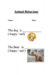 English Worksheets: Animal Behaviour