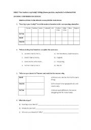English Worksheet: Family - Listening comprehension