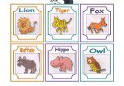 English Worksheets: ANIMAL FLASH CARDS