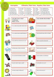 English Worksheets: Auxiliary Verb  -  Do-Does-Did-Don�t-Doesn�t