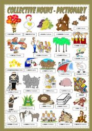 English Worksheets: COLLECTIVE NOUNS - PICTIONARY