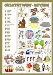 English Worksheets: COLLECTIVE NOUNS - Matching