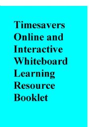 English Worksheets: Timesavers Online and Interactive Whiteboard Learning Resource Booklet