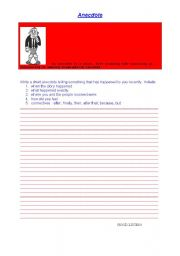 English Worksheets: ANECDOTE