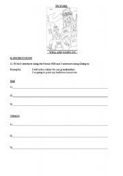 English worksheet: the Future