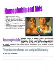 English Worksheets: Homophobia and Aids