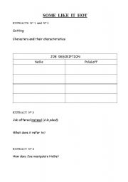 English Worksheets: SOME LIKE IT HOT
