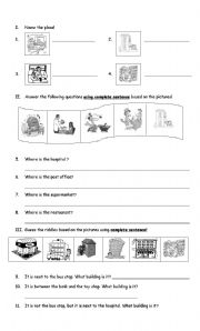 my community esl worksheet by rie fat. Black Bedroom Furniture Sets. Home Design Ideas