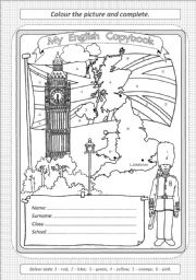 English Worksheet: cover for copybook