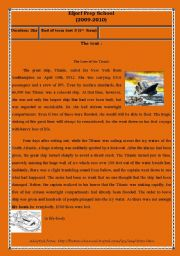 English Worksheet: 1st form end of term test 3 (part 1)