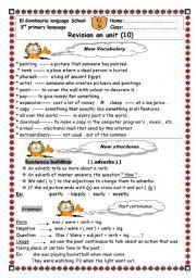 English Worksheets: revesion sheet on unit 10 macmillan 3