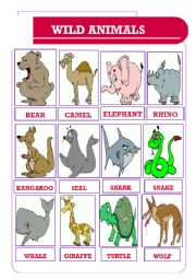English Worksheets: wild animals (05.06.10)