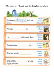 English Worksheets: Beauty and the Knight -worksheet 1