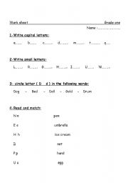 English Worksheets: Letters