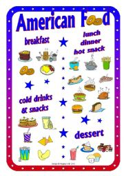 American Food - Poster - Picture Dictionary