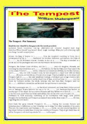 English Worksheets: The Tempest