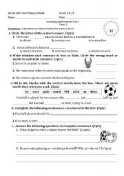 English Worksheets: Listening/Reading Comprehension
