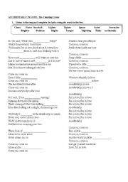 English Worksheets: Accidentally In Love Lyrics-Comparatives and Superlatives