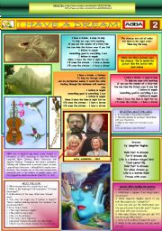 English Worksheet: I HAVE A DREAM - ABBA - PART 02 (FULLY EDITABLE)