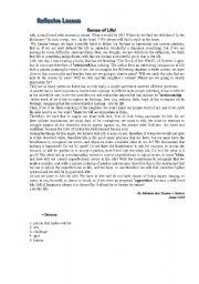 English Worksheets: Sense of Life