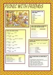 English Worksheet: PICNIC WITH FRIIENDS