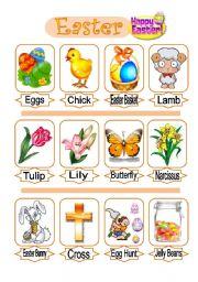 English Worksheet: Easter (pictionary)