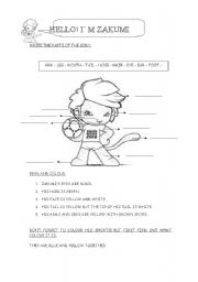 English Worksheets: Zakumi
