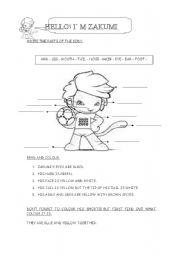 English Worksheet: Zakumi
