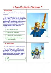 English Worksheets: Lego. The Castle. Characters,
