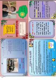 English Worksheet: End of the year minibook. ( fully editable)