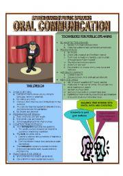 English Worksheets: Oral Communication